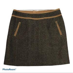 Bob Timley pocketed back zip lined tweed skirt